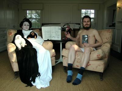 / Director Noterdaeme with Madame Butterfly and Members of the HoMu Board of Trustees at their First Annual Silent Retreat in East Hampton, NY (2003)