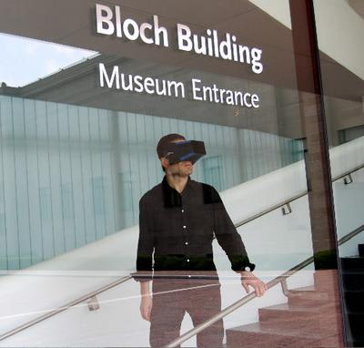/ Filip Noterdaeme visiting the new Bloch Building at the Nelson